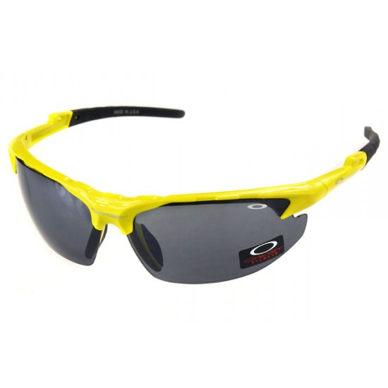 Oakley Commit Sunglass Yellow Frame Dimgray Lens