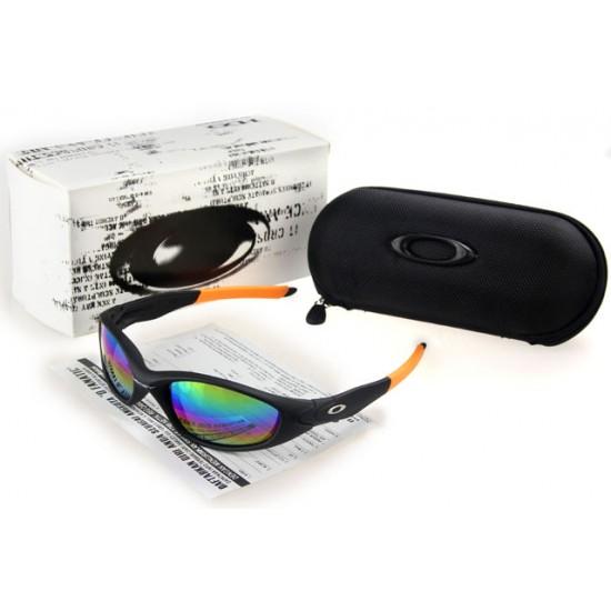 Oakley Juliet Sunglass Black Orange Frame Chromatic Lens
