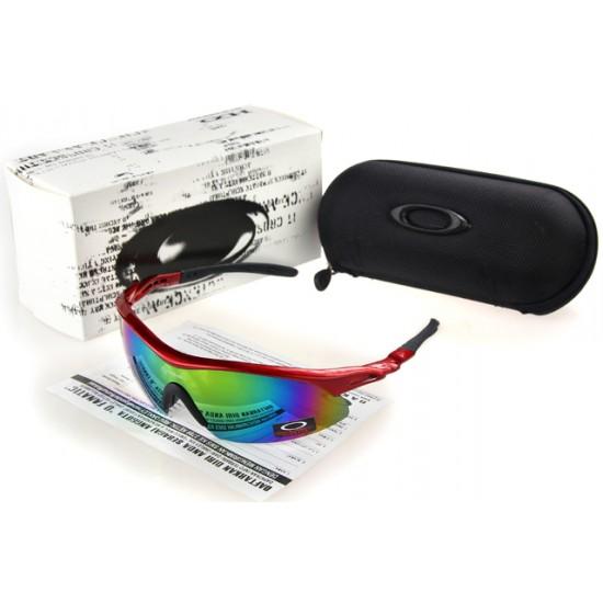 Oakley Radar Range Sunglass Black Crimson Frame Cromatic Lens