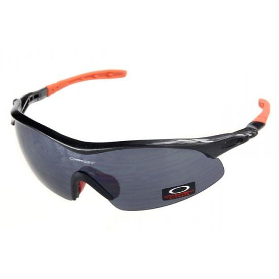 Oakley Radar Range Sunglass Black Orange Frame Black Lens