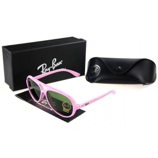 Ray Ban Wayfarer Sunglass Pink Frame Olivedrab Lens