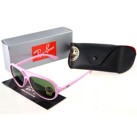 Ray Ban Wayfarer Sunglass Pink Frame Teal Lens