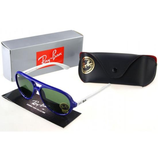 Ray Ban Wayfarer Sunglass White Purple Frame Cyan Lens