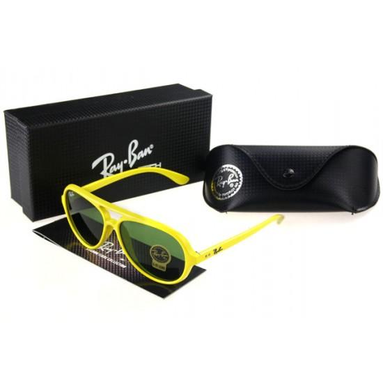 Ray Ban Wayfarer Sunglass Yellow Frame Olivedrab Lens